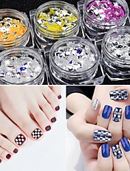 cheap -Acrylic Glitter Powder Sequins For Finger Nail Toe Nail Glossy / 3D Interface / High Transparency Romantic Series White Series nail art Manicure Pedicure Artistic / Classic Special Occasion / Daily