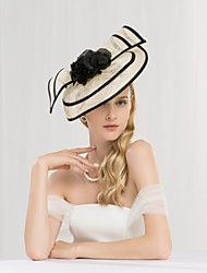 cheap -Flax Kentucky Derby Hat / Headbands with Floral 1pc Wedding / Party / Evening Headpiece