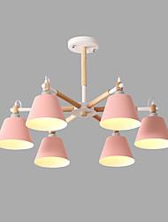 Недорогие -6-Light 85 cm Творчество Люстры и лампы Металл Спутник Окрашенные отделки Современный / Художественный 110-120Вольт / 220-240Вольт