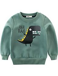 cheap -Kids Boys' Basic Sports Going out Dog Print Print Long Sleeve Regular Hoodie & Sweatshirt Green