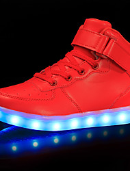 cheap -Boys USB Charging  LED / LED Shoes PU Sneakers Little Kids(4-7ys) / Big Kids(7years +) LED Black / White / Red Fall