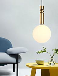 cheap -1-Light 20 cm Pendant Light Metal Glass Globe Gold Contemporary / Artistic AC100-240V