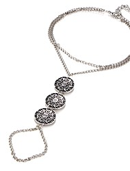 cheap -Women's Barefoot Sandals Vintage Style Flower Ladies Punk Anklet Jewelry Silver For Bikini Cosplay Costumes