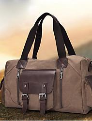 cheap -Canvas Zipper Travel Bag Outdoor Black / Coffee / Khaki / Men's