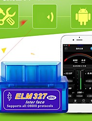 cheap -Mini ELM 327 Bluetooth OBD2 OBDII V2.1 Car Diagnostic Interface Tool Car Fault Detector Vehicle Fault Code Reader Scanner