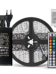 cheap -ZIQIAO 5M SMD5050 RGB Led Strip Waterproof 60led/m DC12V 300leds & 44Key RGB LED Controller & 12V 5A 60W Power Adapter