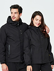 cheap -Men's Hiking Down Jacket Hiking 3-in-1 Jackets Winter Outdoor Thermal / Warm Waterproof Windproof UV Resistant Winter Jacket Single Slider Ski / Snowboard Hunting and Fishing Camping / Hiking / Caving