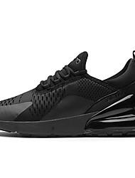 Недорогие -Муж. Комфортная обувь На каждый день Повседневные на открытом воздухе Кеды Кожа Нескользкий Доказательство износа Черно-белый / Черный / Хаки