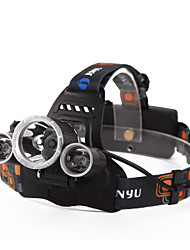 cheap -Headlamps Headlight Waterproof Rechargeable 4800 lm LED LED 3 Emitters 4 Mode with Batteries and Charger Waterproof Rechargeable Night Vision Camping / Hiking / Caving Everyday Use Diving / Boating