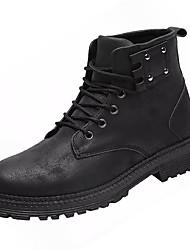cheap -Men's Combat Boots PU Fall Boots Black / Gray