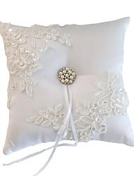 cheap -Nylon Faux Pearl Textile Ring Pillow Pillow / Wedding All Seasons