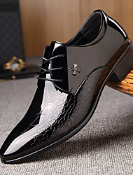 cheap -Men's Formal Shoes Leather Spring & Summer Business / British Oxfords Wear Proof Black / Party & Evening / Party & Evening / Dress Shoes