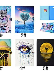 cheap -Case For Samsung Galaxy Tab 4 10.1 / Tab S3 9.7 / Tab A 9.7 Card Holder / with Stand / Flip Full Body Cases Flamingo / Oil Painting / Owl Hard PU Leather