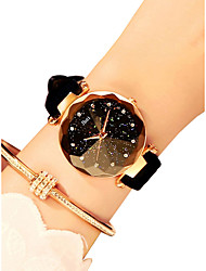 cheap -Women's Wrist Watch Quartz Ladies Casual Watch Quilted PU Leather Black / Red / Brown Analog - Black Purple Red / Imitation Diamond
