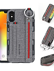 cheap -Case For Apple iPhone XS / iPhone XR / iPhone XS Max Wallet / Card Holder / Shockproof Back Cover Solid Colored Hard PU Leather