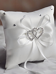 cheap -Plain Sateen Rhinestone / Ribbons Satin Ring Pillow Pillow All Seasons