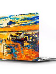 abordables -macbook cas peinture à l'huile paysages pvc pour macbook air pro rétine 11 12 13 15 housse d'ordinateur portable pour macbook new pro 13.3 15 pouces avec barre de contact