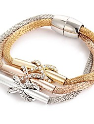 cheap -Women's Wrap Bracelet Retro Ladies Elegant Rhinestone Bracelet Jewelry Rose Gold For Ceremony Evening Party