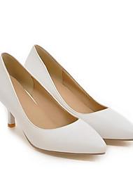 cheap -Women's Heels Stiletto Heel PU Spring Black / White / Beige / Daily