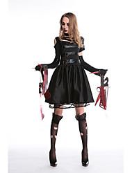 cheap -Movie / TV Theme Costumes Dress Cosplay Costume Masquerade Adults' Women's Movie / TV Theme Costumes Vacation Dress Halloween Halloween Masquerade Festival / Holiday leatherette Black Women's Easy