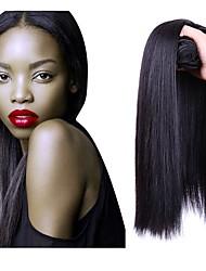 cheap -4 Bundles Mongolian Hair Straight Human Hair Natural Color Hair Weaves / Hair Bulk Extension Bundle Hair 8-28 inch Natural Color Human Hair Weaves Women Extention Best Quality Human Hair Extensions