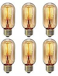 cheap -6pcs Dimmable T45 40W E27 Warm White Color Decorative Retro Incandescent Vintage Edison Light Bulbs AC220-240V
