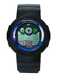 Недорогие -Муж. Спортивные часы электронные часы Цифровой силиконовый Черный 30 m Защита от влаги Фосфоресцирующий Cool Цифровой Роскошь Мода - Зеленый Синий Розовое золото