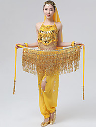 cheap -Belly Dance / Dance Accessories Hip Scarves Women's Performance Polyester Tassel / Bandage / Tiered Ethnic / Glamour Girl Hip Scarf