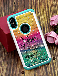 cheap -Case For Apple iPhone XS / iPhone XR / iPhone XS Max Translucent / Pattern Back Cover Word / Phrase Hard TPU / PC