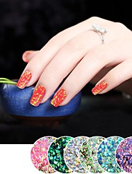 cheap -PVC(PolyVinyl Chloride) Glitter Powder Sequins For Finger Nail Toe Nail High Transparency / Slim design / Color Changing Animal Series Romantic Series nail art Manicure Pedicure Sweet / Fashion Daily
