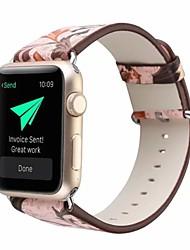 Недорогие -Настоящая кожа / Поли уретан Ремешок для часов Ремень для Apple Watch Series 4/3/2/1 Розовый 23см / 9 дюйма 2.1cm / 0.83 дюймы