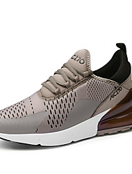cheap -Men's Comfort Shoes Cowhide Winter Casual Sneakers Non-slipping Black / White / Khaki / Black / Outdoor