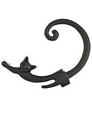 cheap -Women's Ear Cuff Climber Earrings Retro Cat Ladies Simple European Fashion Earrings Jewelry Gold / Black / Silver For Street Club 1pc