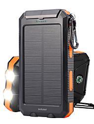 Недорогие -Солнечная энергия Внешний аккумулятор 10000 mAh DC 5V Водонепроницаемый Портативные Перезаряжаемый для Отдых и Туризм Охота Рыбалка Черный / оранжевый