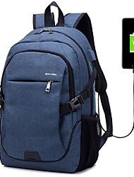 cheap -Linen Zipper Laptop Bag Daily Dark Blue / Gray / Purple / Men's