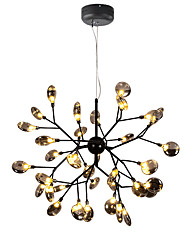 cheap -80 cm Crystal / Eye Protection Chandelier Metal Glass Sputnik Painted Finishes Contemporary AC110-240V