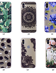 cheap -Case For Apple iPhone XS / iPhone XR / iPhone XS Max Pattern Back Cover Food / Flower Soft TPU