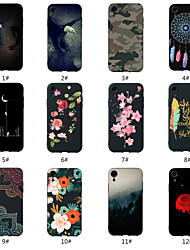 cheap -Case For Apple iPhone XS / iPhone XR / iPhone XS Max Pattern Back Cover Scenery / Animal / Flower Soft TPU