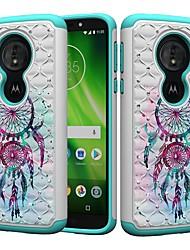 cheap -Case For Motorola MOTO G6 / Moto G6 Play / Moto E5 Play Shockproof / Rhinestone / Pattern Back Cover Dream Catcher / Rhinestone Hard PC