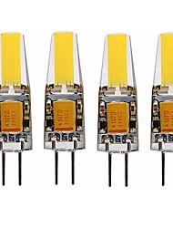 abordables -SENCART 4pcs 4 W LED à Double Broches 350 lm G4 T 1 Perles LED COB Décorative Blanc Chaud Blanc 12 V