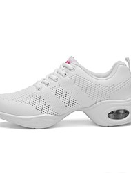 cheap -Women's Dance Shoes Mesh Dance Sneakers Sneaker Flat Heel Customizable White / Performance / Practice