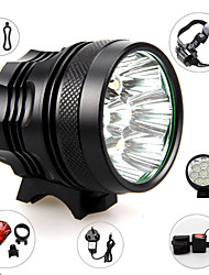 cheap -Headlamps Headlight Waterproof 3500 lm LED LED 7 Emitters 3 Mode with Battery and Charger Waterproof Adjustable Focus Camping / Hiking / Caving Everyday Use Cycling / Bike EU Plug AU Plug UK Plug US