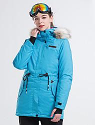 cheap -LanLaKa Women's Ski Jacket Snowboarding Winter Sports Thermal / Warm Waterproof Windproof POLY Winter Jacket Ski Wear