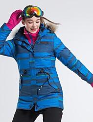 cheap -LanLaKa Women's Ski Jacket Skiing Snowboarding Winter Sports Thermal / Warm Windproof Breathability POLY Terylene Winter Jacket Ski Wear