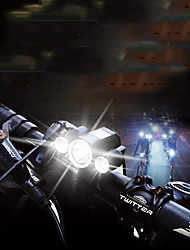 cheap -LED Bike Light Front Bike Light Mountain Bike MTB Bicycle Cycling Waterproof Super Brightest Portable Adjustable no battery 400 lm Batteries Powered White Camping / Hiking / Caving Cycling / Bike