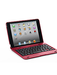 cheap -Case For Apple iPad Mini 3/2/1 with Keyboard Full Body Cases Solid Colored Hard PU Leather