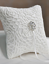 cheap -Plain Sateen Rhinestone Satin Ring Pillow Pillow All Seasons