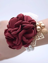 cheap -Wedding Flowers Wrist Corsages Wedding / Wedding Party 18K Gold Plated / Bead 0-10 cm