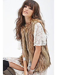 cheap -Sleeveless Vests Faux Fur Wedding / Party / Evening Women's Wrap With Solid