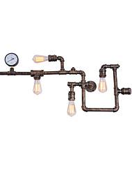 Недорогие -ретро промышленный стиль металлическая стена бра столовая игровая комната и бар с 5-свет водопроводной трубы настенный светильник